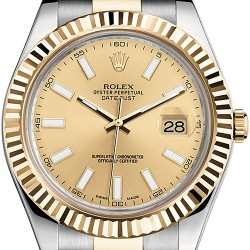 Rolex Datejust II Steel 18K Yellow Gold 41 mm Mens Watch 116333CSO