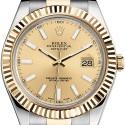 Rolex Datejust II Steel 18K Yellow Gold 41 mm Watch 116333CSO