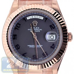 Rolex Day-Date II President 18K Rose Gold Mens Watch 218235