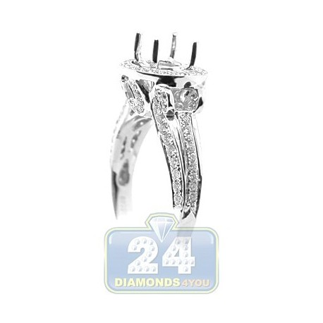18K White Gold 0.69 ct Diamond Engagement Ring Setting