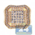 14K Yellow Gold 3.79 ct Diamond Square Shape Signet Mens Ring