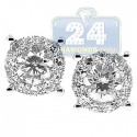 14K White Gold 1.79 ct Diamond Womens Illusion Stud Earrings
