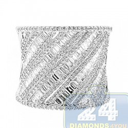 14K White Gold 1.75 ct Diamond Womens Ring