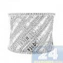 14K White Gold 1.75 ct Diamond Womens Ring