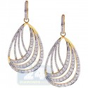 14K Yellow Gold 4.00 ct Diamond Womens Dangle Earrings