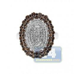 14K White Gold 1.70 ct Cognac Diamond Womens Ring
