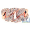 18K Rose Gold 1.90 ct Diamond Womens Knot Design Ring