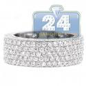 18K White Gold 2.51 ct Diamond Mens Wedding Band Ring