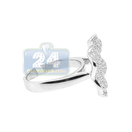 18K White Gold 1.07 ct Diamond Womens Flower Design Ring