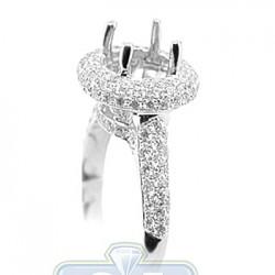 18K White Gold 1.14 ct Diamond Semi Mount Setting Engagement Ring