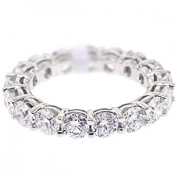 18K White Gold 3.55 ct All Way Diamond Womens Eternity Band