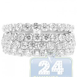 14K White Gold 2.66 ct Diamond Wedding Bands Womens Rings Set