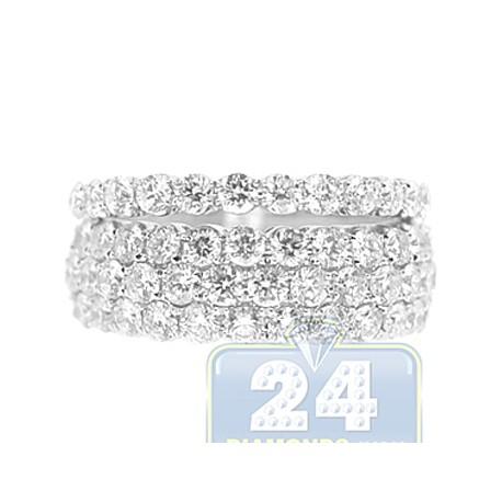 14K White Gold 2.66 ct Diamond Wedding Bands Womens Rings Set