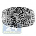 Black PVD 14K Gold 0.86 ct Diamond Mens Scorpion Ring