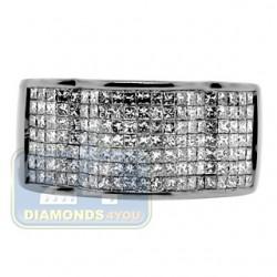 Black 14K Gold 1.72 ct Princess Cut Diamond Mens Band Ring
