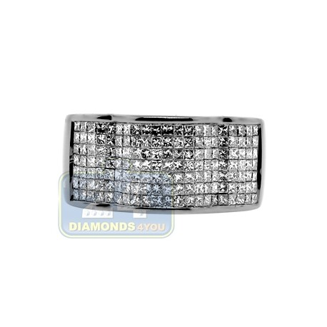 Black 14K Gold 1.72 ct Princess Cut Diamond Mens Band Ring