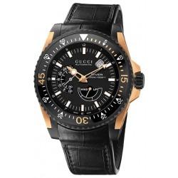 Gucci Dive Automatic 18K Rose Gold Mens Watch YA136202