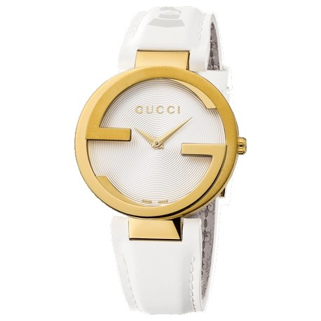 Gucci Interlocking Latin Grammy Gold PVD Womens Watch YA133313