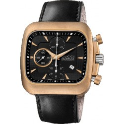 Gucci Coupe Automatic Chrono Bronze Steel Mens Watch YA131204