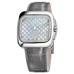 Gucci Coupe Diamond Steel Case Mens Quartz Watch YA131316