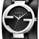 Gucci Interlocking Grammy Special Cuff Black Dial Watch YA133201