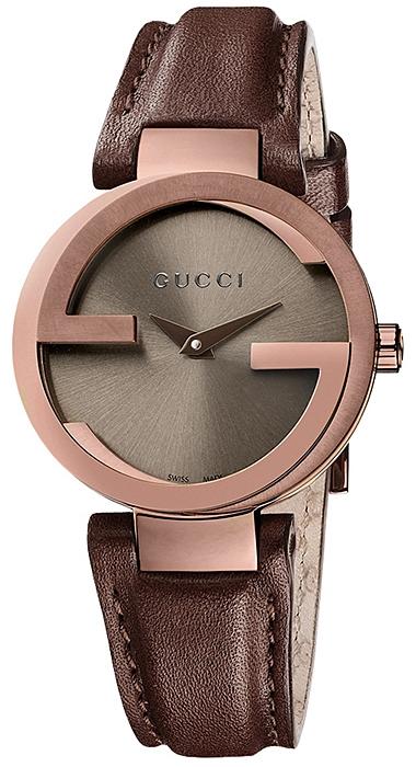 9b6be2f22dd Gucci Interlocking Small Brown PVD Case Womens Watch YA133504