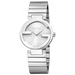 Gucci Interlocking Small Steel Bracelet Womens Watch YA133503