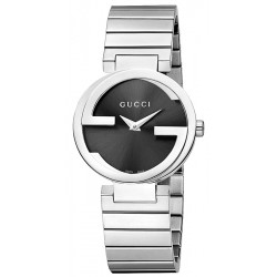 Gucci Interlocking Small Steel Bracelet Womens Watch YA133502
