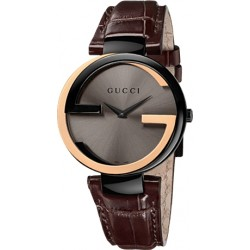 Gucci Interlocking Large 18K Gold Womens Watch YA133304