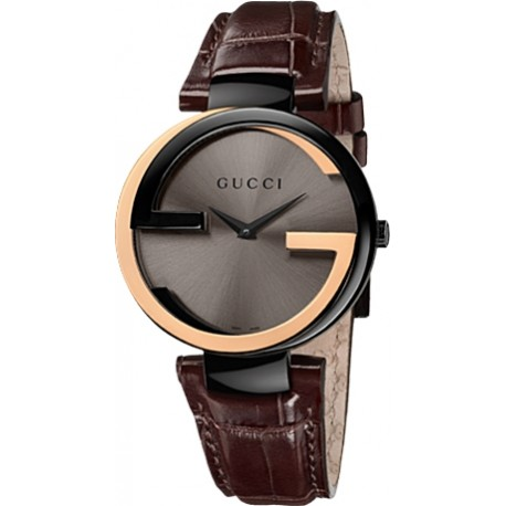 Gucci Interlocking Large 18K Rose Gold Womens Watch YA133304