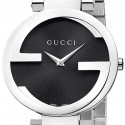 Gucci Interlocking Large Steel Bracelet Womens Watch YA133307