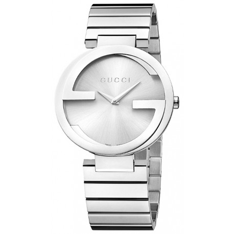 Gucci Interlocking Large Steel Bracelet Womens Watch YA133308