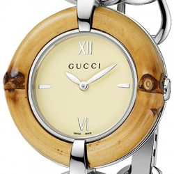 Gucci Bamboo Ivory Special Edition Womens Steel Watch YA132404