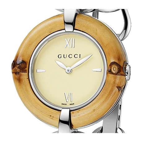 3b77214c282 Gucci Bamboo Ivory Special Edition Womens Steel Watch YA132404