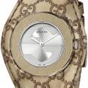 Gucci U-Play Champagne Guccissima Bandeau Watch YA129425