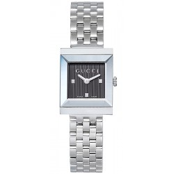 Gucci G-Frame Square Steel Bracelet Womens Watch YA128403
