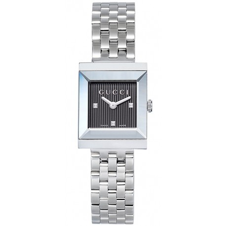 a55c9e52437 Gucci G-Frame Square Steel Bracelet Womens Watch YA128403