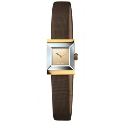 Gucci G-Frame Square 18K Yellow Gold Womens Watch YA128506