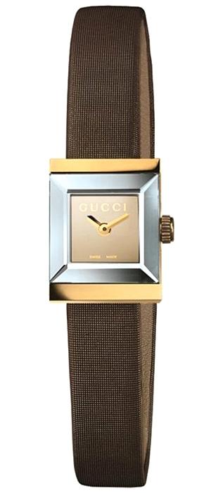 4b7305af2e7 Gucci G-Frame Square 18K Yellow Gold Womens Watch YA128506