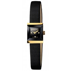 Gucci G-Frame Square 18K Gold 2 Tone Womens Watch YA128505