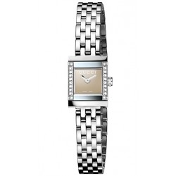 Gucci G-Frame Square Diamond Steel Womens Watch YA128508