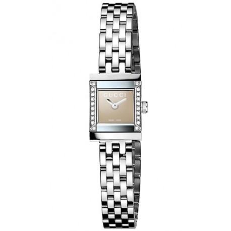 900e1e803ce Gucci G-Frame Square Diamond Steel Womens Watch YA128508