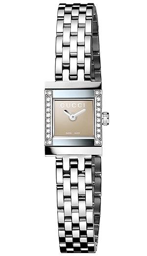 34937738048 Gucci G-Frame Square Diamond Steel Womens Watch YA128508