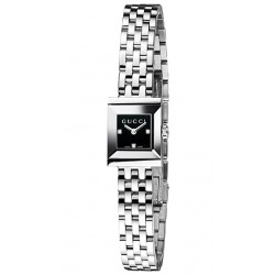 Gucci G-Frame Square Black Diamond Dial Womens Watch YA128507