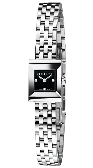 35dc6cbcd2a Gucci G-Frame Square Black Diamond Dial Womens Watch YA128507