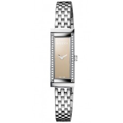 Gucci G-Frame Steel Diamond Bracelet Womens Watch YA127508