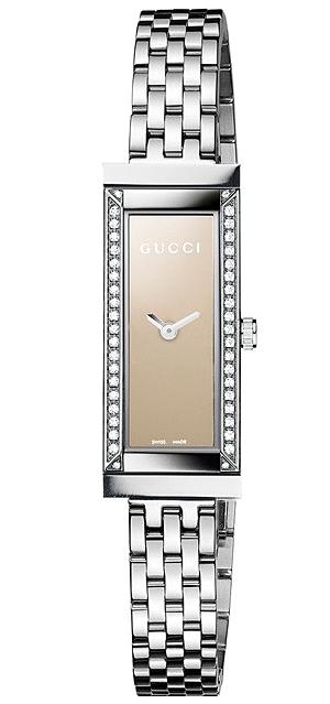 5308c42ecc1 Gucci G-Frame Steel Diamond Bracelet Womens Watch YA127508