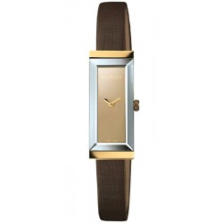 Gucci G-Frame 18K Yellow Gold Brown Dial Womens Watch YA127507
