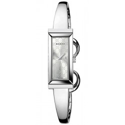 Gucci G-Frame Bangle Silver Dial Steel Womens Watch YA127511