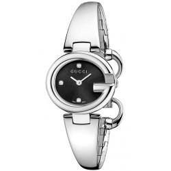 Gucci Guccissima Diamond Small Black Dial Womens Watch YA134505
